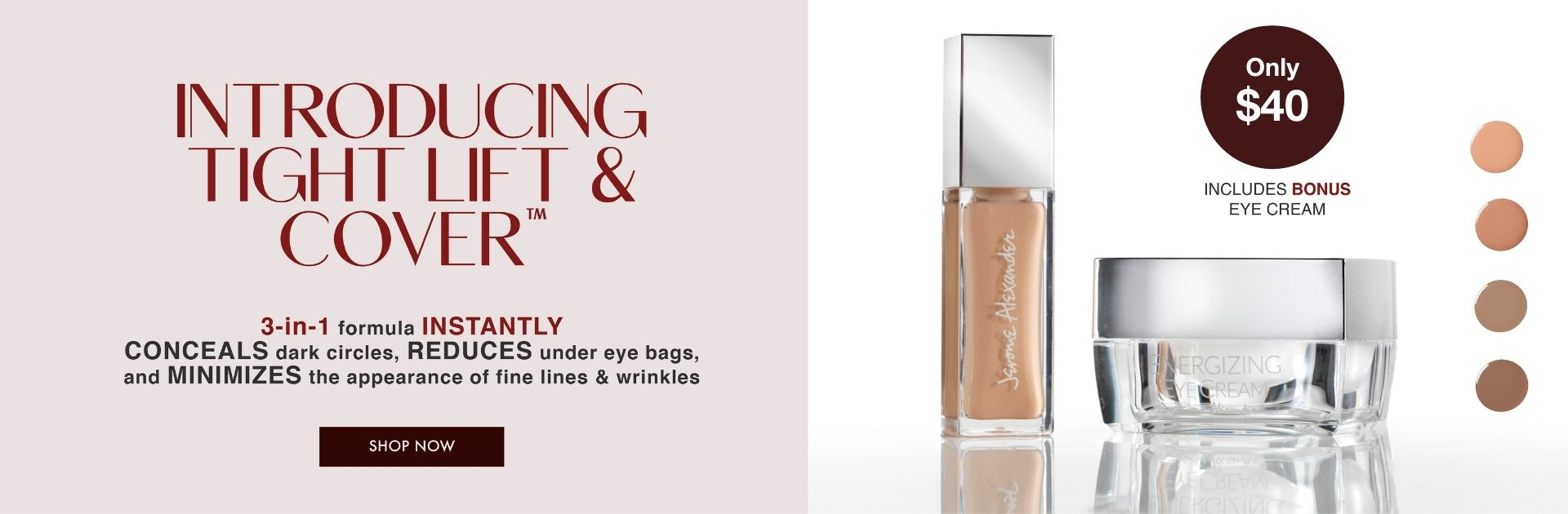 Tight Lift and Cover TLC Bonus Energizing Eye Cream Undereye Concealer and Tightener