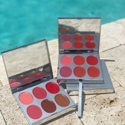 Lip Palettes by the pool