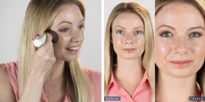 Model applying AirTInt with Before and After Application Image